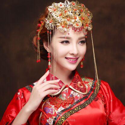 中式新娘化妆造型,上下五千年,中国文化博大精深,女人化妆技术堪称图片