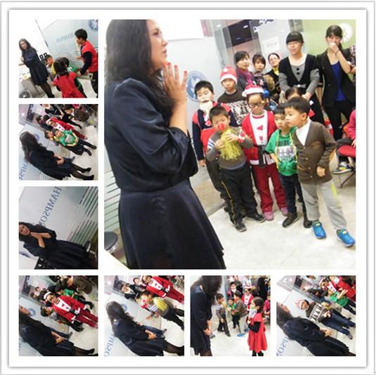青岛汉普森老师教孩子英语