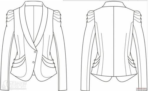裤子手绘裁剪图