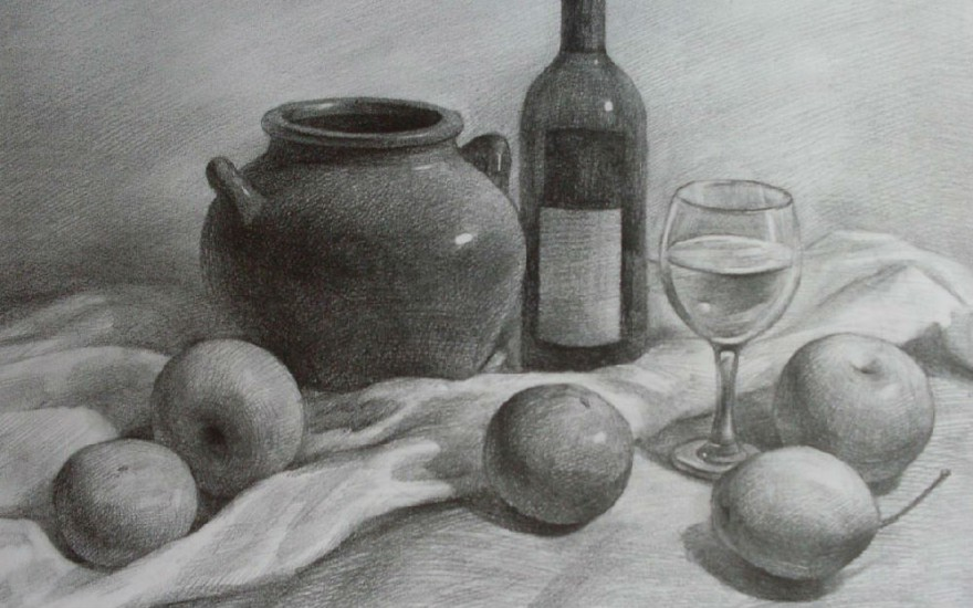 静物素描绘画技巧