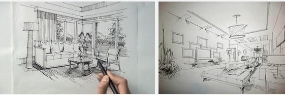 上海室内设计培训之手绘设计的重要性