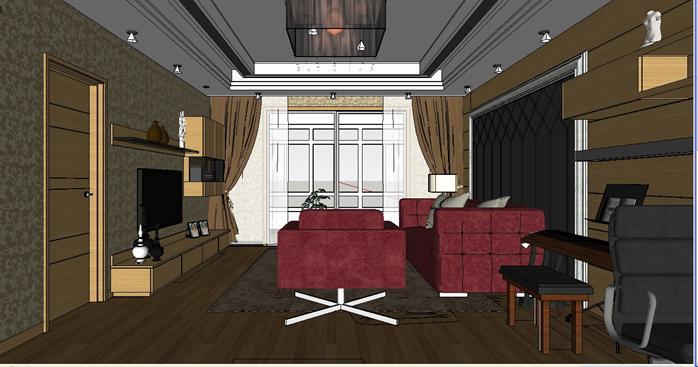 室内设计工程案例的绘制,培养学员按照行业规范利用计算机应用软件来