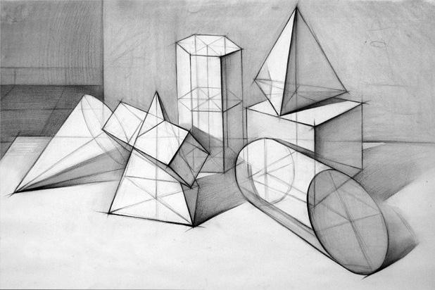 从线条训练,原理,逐步认识什么是体积,结构,明暗等有关素描的基础知识