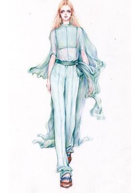 服装设计手绘 人体基本的画法