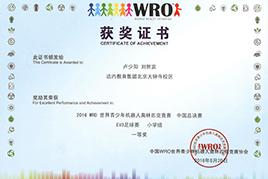 WRO获奖证书